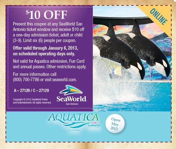 Seaworld printable coupons